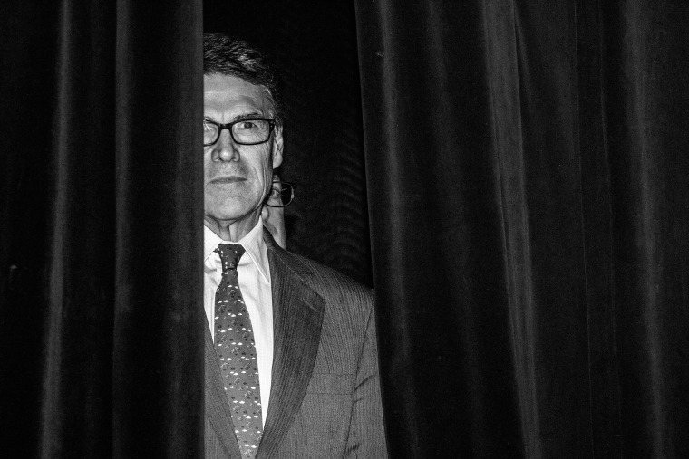 Rick Perry at the Iowa Freedom Summit in Des Moines, Iowa on Jan. 24, 2015. (Photo by Mark Peterson/Redux for MSNBC)