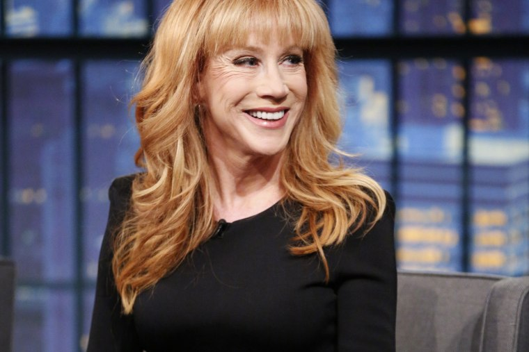 Comedian Kathy Griffin during an interview on Feb. 18, 2015 (Photo by Lloyd Bishop/NBC/NBCU Photo Bank/Getty)