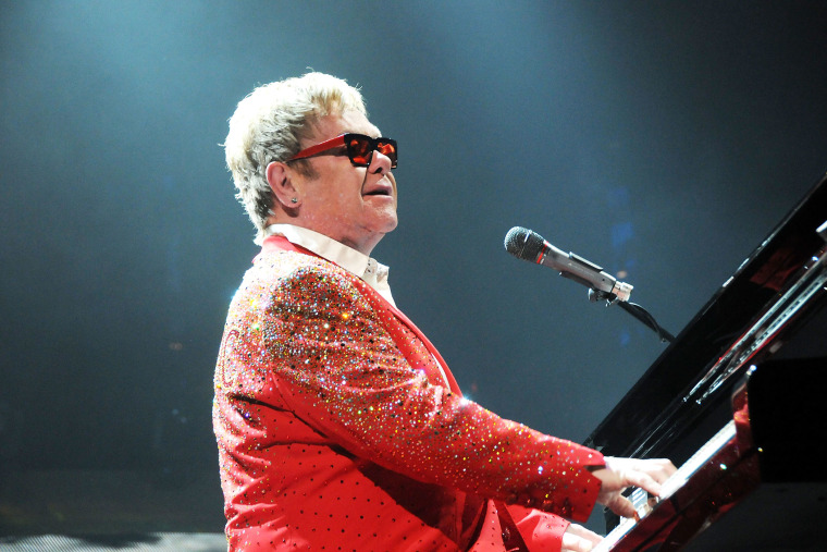 Musician Elton John performs at the Barclays Center on Dec. 31, 2014 in the Brooklyn borough of New York, N.Y. (Photo by Desiree Navarro/WireImage/Getty)