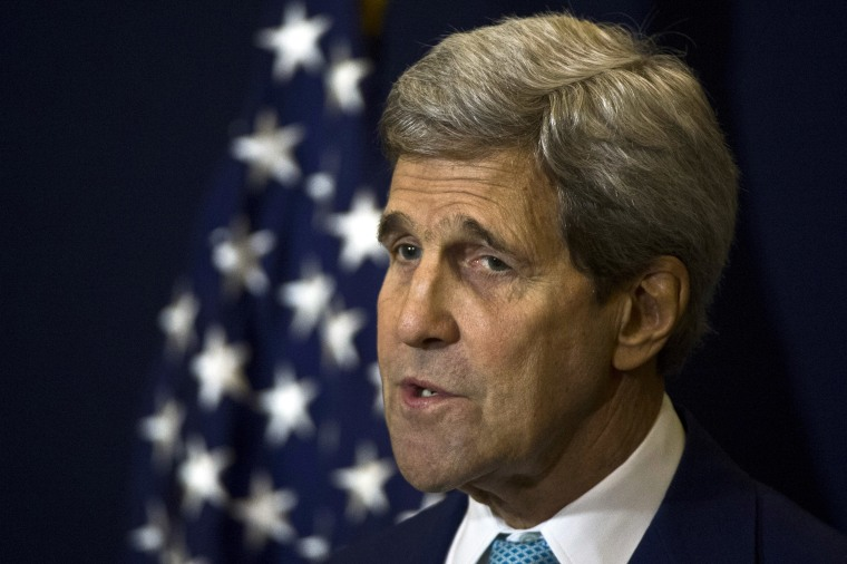 US Secretary of State John Kerry Secretary of State John Kerry speaks during a news conference in Sharm el-Sheikh on March 14, 2015. (Photo by Khaled Desouki/AFP/Getty)