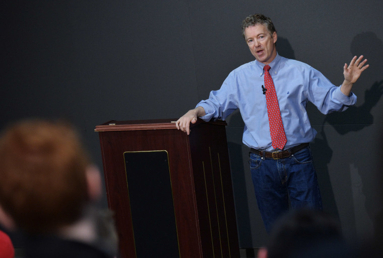 Senator Rand Paul, R-KY, speaks during a discussion on reforming the criminal justice system at Bowie State University on March 13, 2013 in Bowie, Md. (Photo by Mandel Ngan/AFP/Getty)