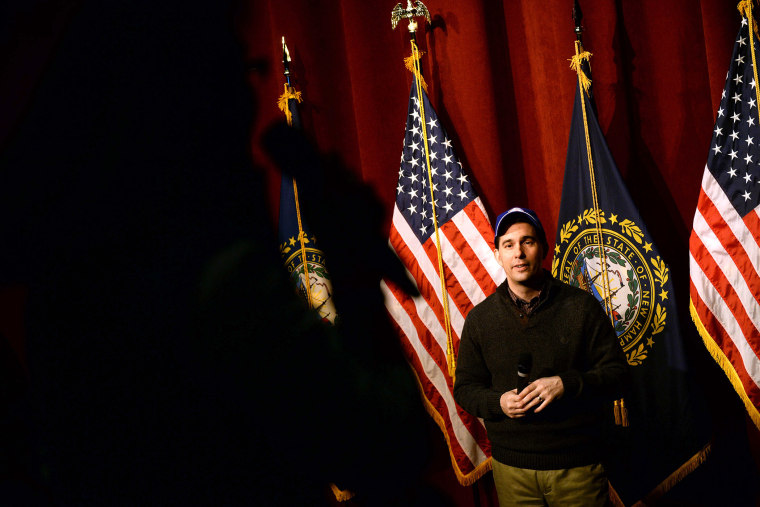 Wisconsin Governor Scott Walker takes questions following a speech during a grassroots training and rally event at Concord High School March 14, 2015 in Concord, N.H. (Photo by Darren McCollester/Getty)