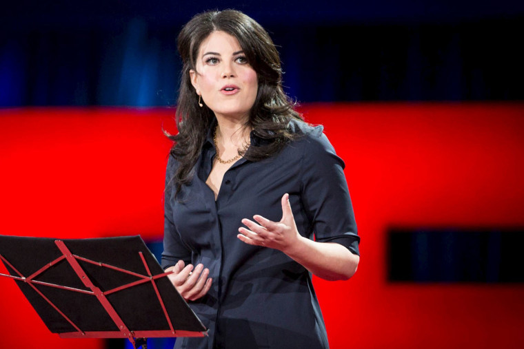 Former White House intern Monica Lewinsky speaks at the TED2015 conference in Vancouver, Canada on March 19, 2015. (Photo by James Duncan Davidson/TED/Reuters)