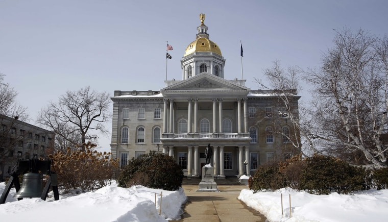 In this photo taken Tuesday, March 3, 2015 the New Hampshire Statehouse is seen in Concord, N.H.