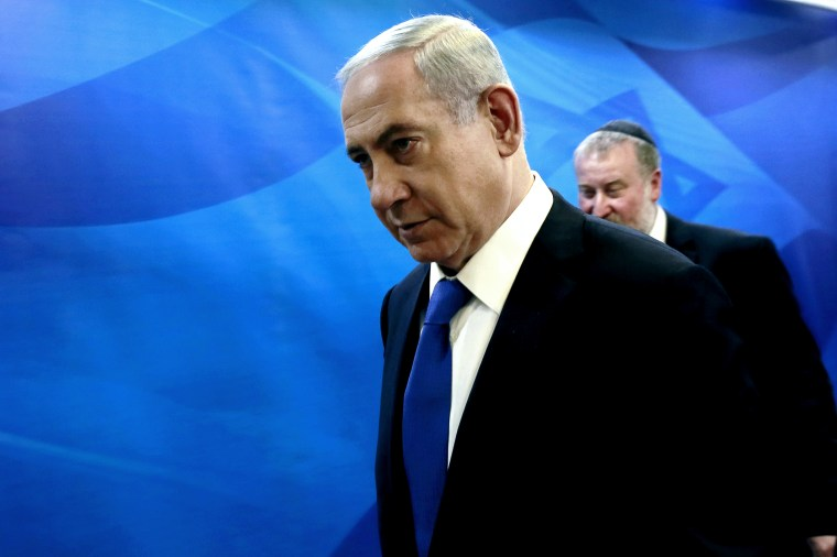 Israel's Prime Minister Benjamin Netanyahu arrives at the weekly cabinet meeting at his office in Jerusalem March 8, 2015. (Photo by Gali Tibbon/Reuters)