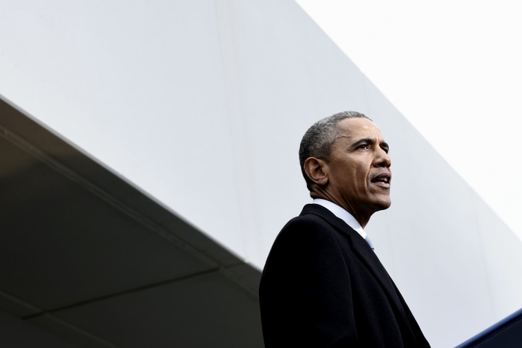 President Barack Obama speaks at the dedication of the Edward M. Kennedy Institute for the United States Senate on March 30, 2015, in Boston. (Photo by Susan Walsh/AP)