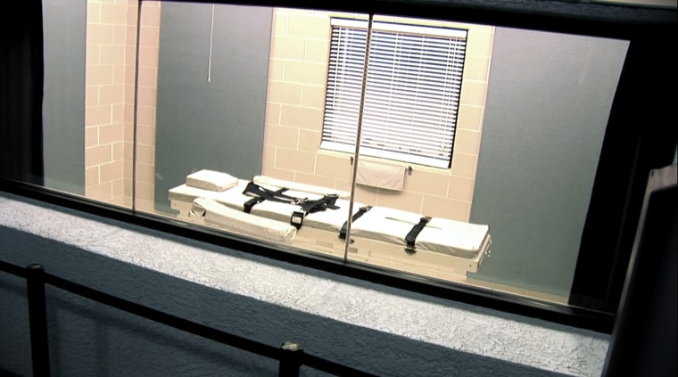 The execution chamber at the Arizona State Prison Complex is shown in the screen grab from a video provided by the Arizona Department of Corrections March 4, 2015. (Photo by Arizona Department of Corrections/Reuters)