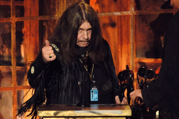 Bob Burns of Lynryd Skynyrd, inductee during 21st Annual Rock and Roll Hall of Fame Induction Ceremony in New York City, NY. (Photo by Jeff Kravitz/FilmMagic via Getty)