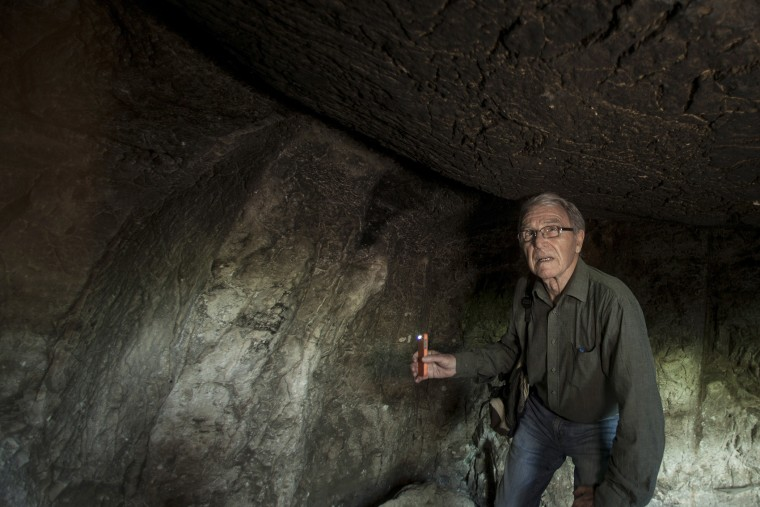 Aryeh Shimron, a geologist based in Jerusalem, in the Talpoit Tomb in the East Talpiot district of East Jerusalem, on April 2, 2015.