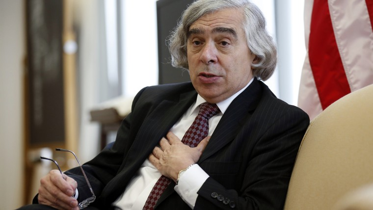 U.S. Energy Secretary Ernest Moniz speaks during an interview at his office at the Department of Energy in Washington July 18, 2013. (Photo by Kevin Lamarque/Reuters)