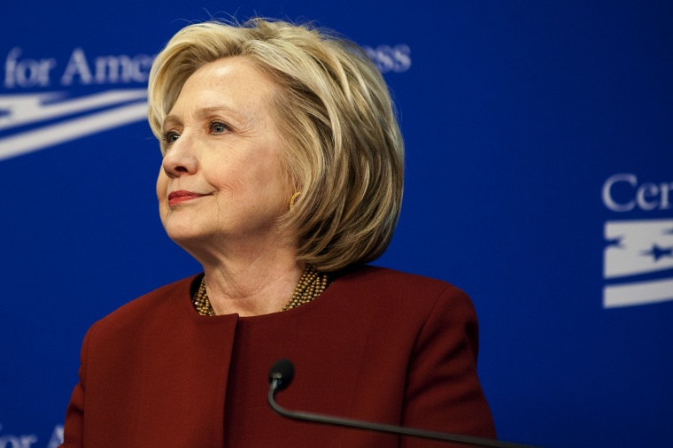 Hillary Clinton speaks at the Center for American Progress in Washington, DC, March 23, 2015.