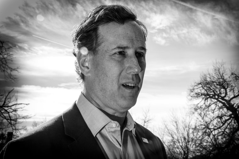 Former Penn. Sen. Rick Santorum at the Freedom Summit, Jan. 24, 2015, in Des Moines, Iowa.