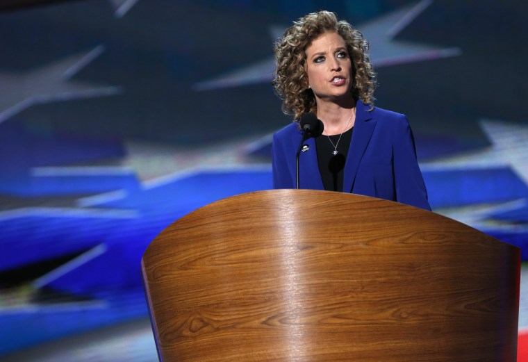 U.S. Rep. Debbie Wasserman Schultz (D-FL) addresses delegates during the final session of the Democratic National Convention in Charlotte, N.C., Sep. 6, 2012. (Photo by Eric Thayer/Reuters)