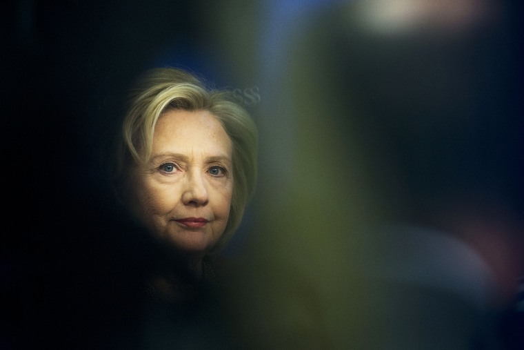 Former Secretary of State Hillary Rodham Clinton is seen at an event hosted in Washington, D.C., March 23, 2015. (Photo by Pablo Martinez Monsivais/AP)