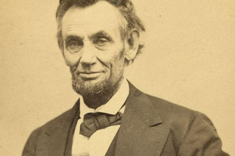 U.S. President Abraham Lincoln is seen in one of five poses taken by photographer Alexander Gardner in Washington on Feb.5, 1865, from the archives of the Library of Congress.