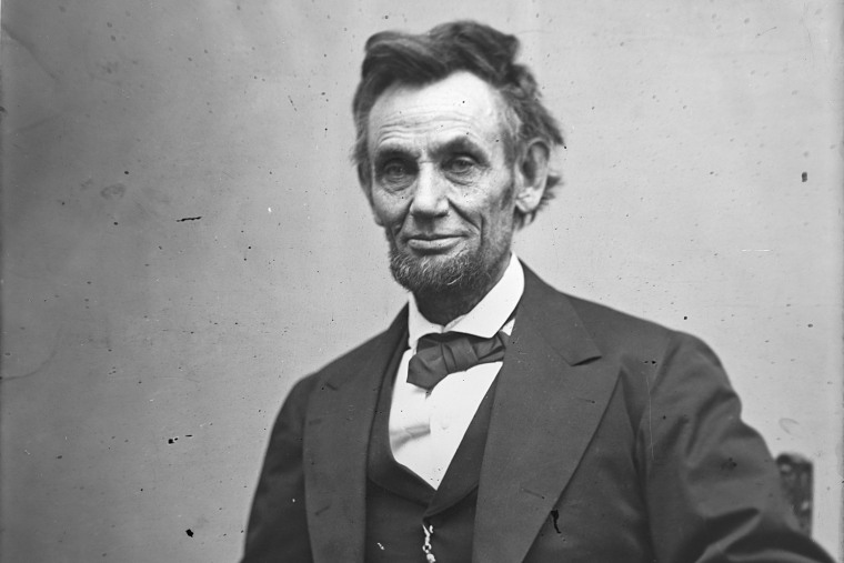 In this image from the U.S. Library of Congress, U.S. President Abraham Lincoln sits for a portrait on Feb. 5, 1865. (Photo by Alexander Gardner/U.S. Library of Congress/Getty)