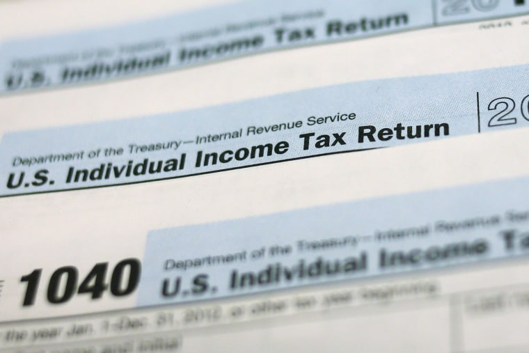 U.S. 1040 Individual Income Tax forms are seen in New York on March 18, 2013.