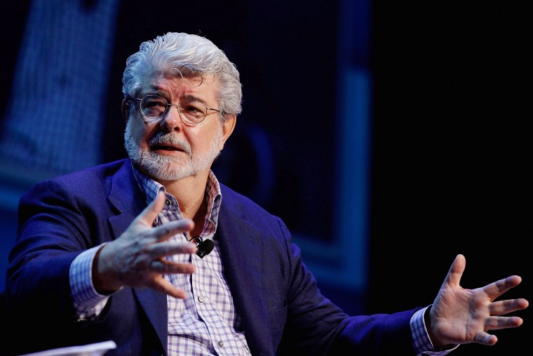 George Lucas speaks in Washington, DC in 2012. (Photo by Chip Somodevilla/Getty)
