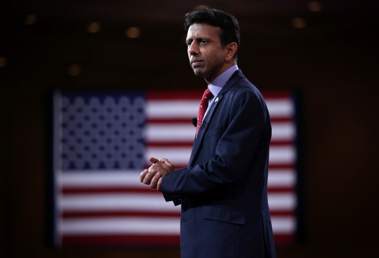 Louisiana Gov. Bobby Jindal addresses the 42nd annual Conservative Political Action Conference (CPAC) Feb. 26, 2015 in National Harbor, Md. (Photo by Alex Wong/Getty)
