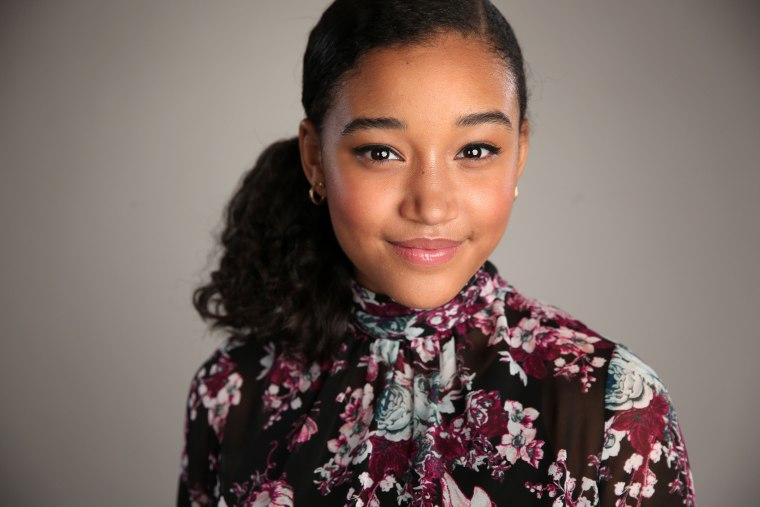 Actress Amandla Stenberg poses for a portrait during an event on April 2, 2015 in Pasadena, Calif. (Photo by Christopher Polk/NBC/NBCU Photo Bank/Getty)