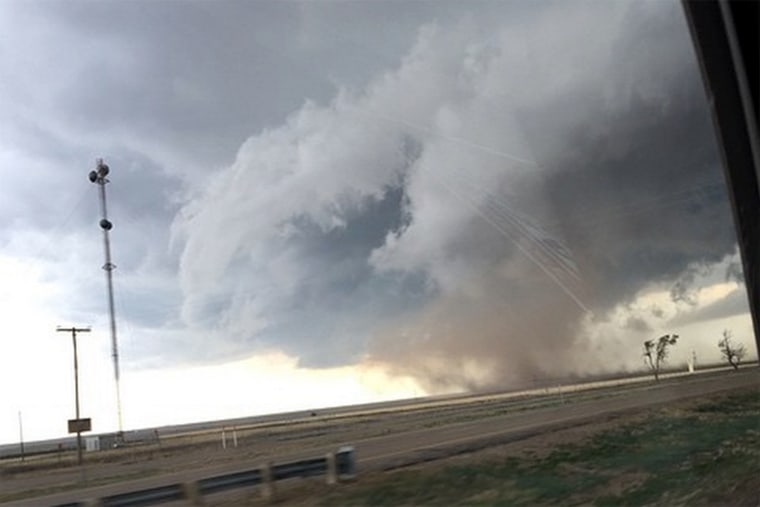 A tornado, spotted outside of Amarillo, Texas on April 16, 2015.
