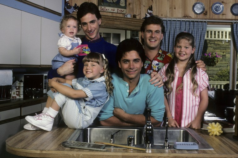 The cast of Full House in 1987.