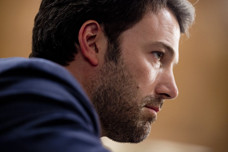 Ben Affleck testifies during a hearing on Capitol Hill in Washington, D.C., on Feb. 26, 2014. (Photo by Saul Loeb/AFP/Getty)