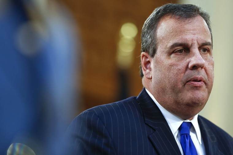 New Jersey Gov. Chris Christie delivers his budget address for fiscal year 2016 to the Legislature, on Feb. 24, 2015 at the Statehouse in Trenton, N.J. (Photo by Jeff Zelevansky/Getty)