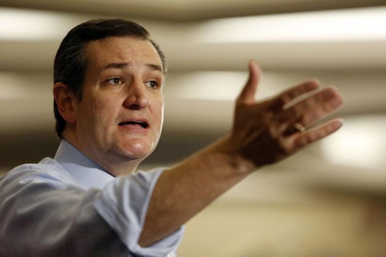 Republican presidential hopeful U.S. Sen.Ted Cruz, R-Texas, speaks at the Republican Leadership Summit on April 18, 2015, in Nashua, N.H.