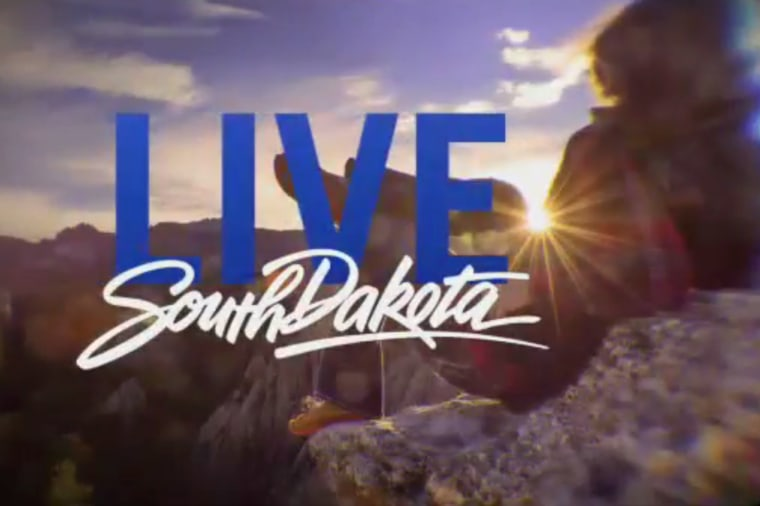 Screen grab from a new South Dakota campaign video, released last week by the South Dakota Governor's Office of Economic Development. (Photo courtesy of the South Dakota Governor's Office of Economic Development)