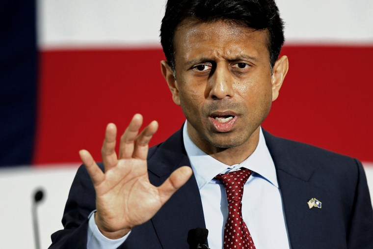 Potential Republican 2016 presidential candidate Louisiana Governor Bobby Jindal speaks at the First in the Nation Republican Leadership Conference in Nashua, N.H. April 18, 2015. (Photo by Brian Snyder/Reuters)
