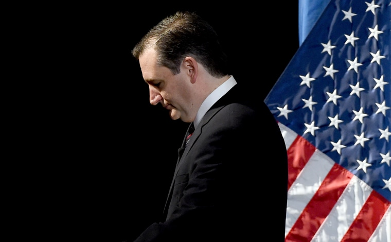 Republican presidential candidate Ted Cruz leaves the stage after speaking during the Republican Jewish Coalition spring leadership meeting at The Venetian Las Vegas on April 25, 2015 in Las Vegas, Nev. (Photo by Ethan Miller/Getty)