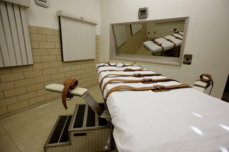 The lethal injection chamber of the South Dakota State Penitentiary in Sioux Falls on Oct. 9, 2012.