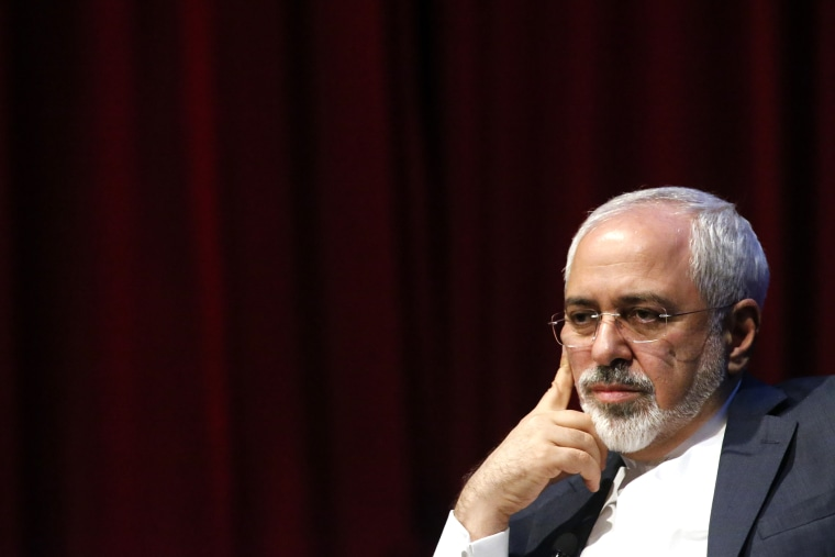 Mohammad Javad Zarif, Foreign Minister of the Islamic Republic of Iran attends a public event on April 29, 2015 in New York,  N.Y. (Photo by Kena Betancur/AFP/Getty)