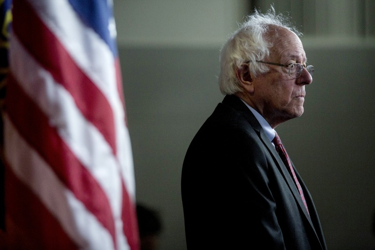 Senator Bernie Sanders, an Independent from Vermont, listens during a news conference on Capitol Hill in Washington, DC, April 29, 2015. (Photo by Andrew Harrer/Bloomberg/Getty)
