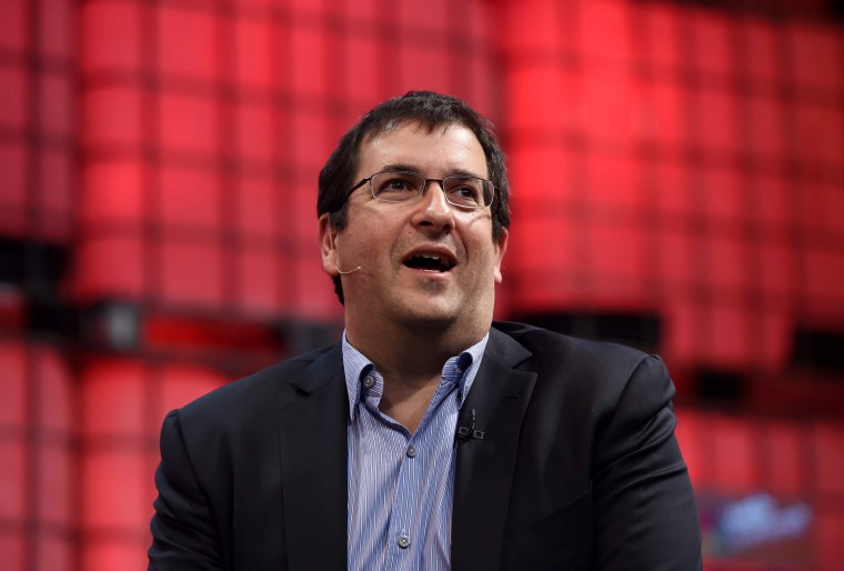 Dave Goldberg, CEO of Survey Monkey, speaks on the centre stage during the 2014 Web Summit at the RDS on Nov. 5, 2014 in Dublin, Ireland. (Photo by Stephen McCarthy/Sportsfile/Getty)