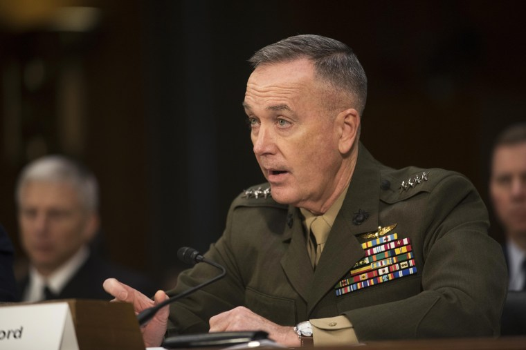 Marine Corps Commandant Joseph Dunford, Jr. testifies on Capitol Hill in Washington, D.C., Jan. 28, 2015. (Photo by Kevin Wolf/AP)