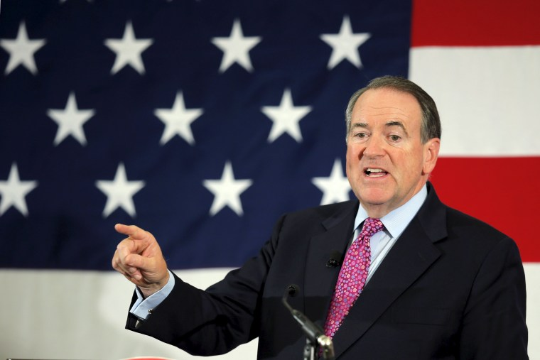 Potential Republican 2016 presidential candidate Mike Huckabee speaks at the First in the Nation Republican Leadership Conference in Nashua