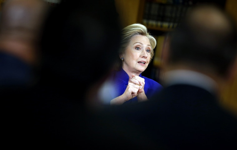 Democratic presidential candidate Hillary Rodham Clinton speaks at an event at Rancho High School, May 5, 2015, in Las Vegas. (Photo by John Locher/AP)