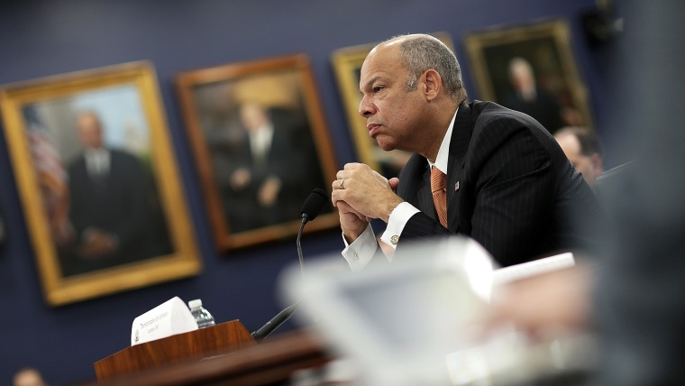 Homeland Security Secretary Jeh Johnson testifies before the House Homeland Security Subcommittee March 26, 2015 in Washington, D.C. (Photo by Win McNamee/Getty)