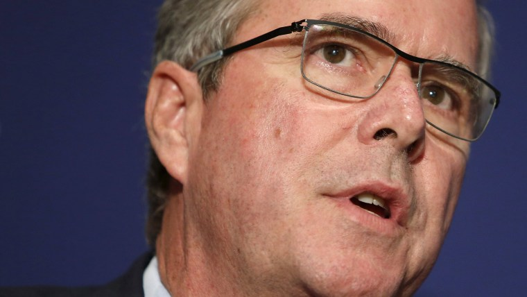 Former Governor Jeb Bush (R-FL) addresses the National Review Institute's 2015 Ideas Summit in Washington on April 30, 2015. (Photo by Jonathan Ernst/Reuters)