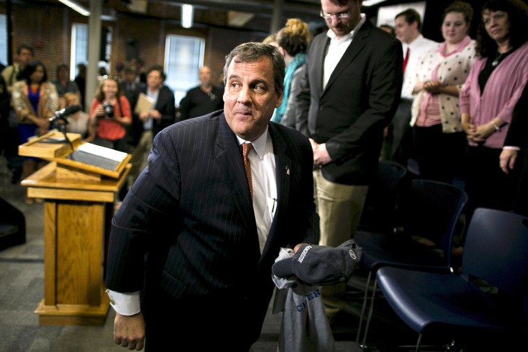 Possible Republican presidential candidate and New Jersey Governor Chris Christie greets supporters after speaking at the University of New Hampshire at Manchester, in Manchester, N.H., May 12, 2015. (Photo by Dominick Reuter/Reuters)