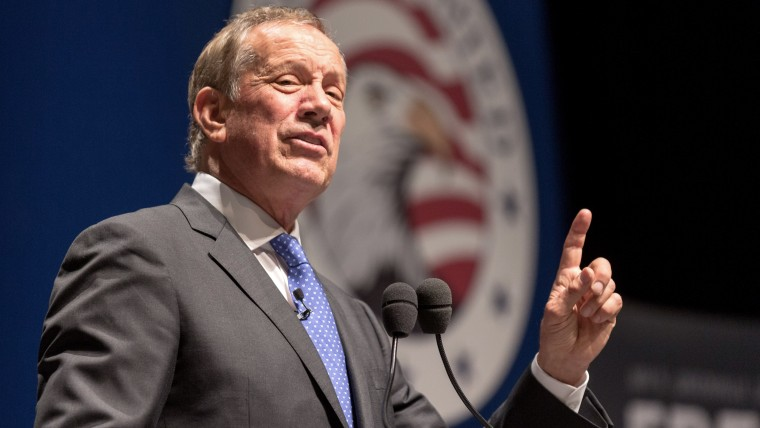 Former New York Governor George Pataki speaks at the Freedom Summit on May 9, 2015 in Greenville, S.C. Pataki joined eleven other potential candidates in addressing the event hosted by conservative group Citizens United. (Photo by Richard Ellis/Getty)
