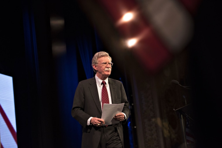 John Bolton, former U.S. ambassador to the United Nations, walks on stage during the Iowa Freedom Summit in Des Moines, Iowa, on Jan. 24, 2015. (Photo by Daniel Acker/Bloomberg/Getty)