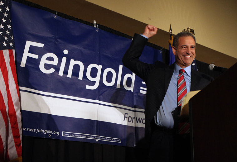 Sen. Russ Feingold, D-Wis., makes his concession speech to supporters, Nov. 2, 2010, in Middleton, Wis., after loosing to Republican challenger Ron Johnson for the Wisconsin U.S. Senate seat. Sen. (Photo by Joe Koshollek/AP)