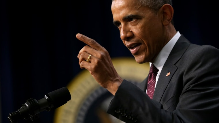 U.S. President Barack Obama speaks during an event on May 11, 2015.