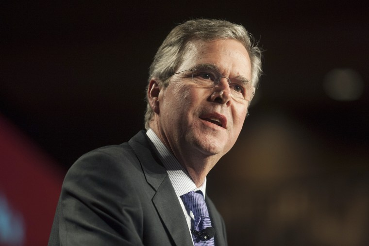 Former Florida Gov. Jeb Bush speaks at a dinner during the Republican National Committee Spring Meeting on May 14, 2015 in Scottsdale, Ariz. (Photo by Laura Segall/Getty)