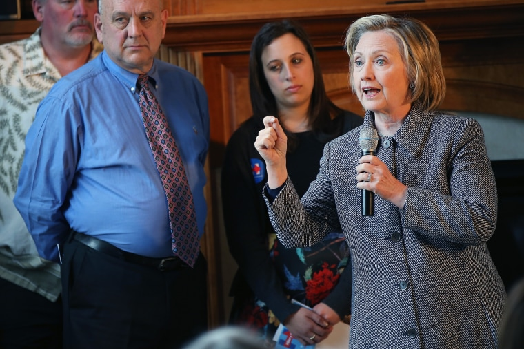 Former U.S. Secretary of State Hillary Clinton speaks during a grassroots-organizing event on May 18, 2015 in Mason City, Iowa. (Photo by Scott Olson/Getty)