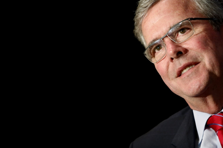 Former Governor Jeb Bush addresses the National Review Institute's 2015 Ideas Summit in Washington, April 30, 2015. (Photo by Jonathan Ernst/Reuters)