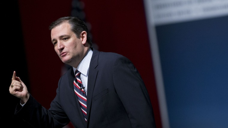 Senator Ted Cruz speaks during the South Carolina Freedom Summit in Greenville, S.C. on May 9, 2015. (Photo by Andrew Harrer/Bloomberg/Getty)